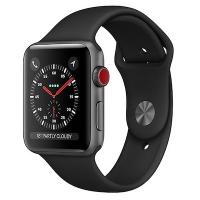 Умные часы Apple Watch Series 3 LTE MQKG2 38 мм (алюминий серый космос/черный)