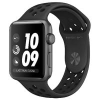 Умные часы Apple Watch Nike+ MQKY2 38 мм (алюминий серый космос/антрацитовый, черный)