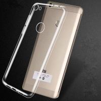 Чехол бампер плотный силиконовый прозрачный Xiaomi Mi Max 2