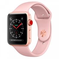 Умные часы Apple Watch Series 3 LTE MQK32 42 мм (золотистый алюминий/розовый песок)