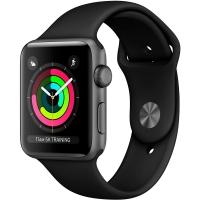 Умные часы Apple Watch Series 3 MQL12 42 мм (алюминий серый космос/черный)