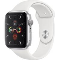 Apple Watch Series 5 44 мм (серебристый алюминий/белый спортивный)