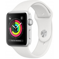 Apple Watch Series 3 MTEY2 38мм (серебристый алюминий/белый)